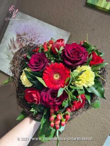 Nur für dich, weil ich dich gernhabe. Deshalb soll es für dich etwas von Herzen sein.    Das Bild entspricht der mittleren Preisvariante und die Vase ist nicht inbegriffen. Auf Wunsch finden Sie diese in der Kategorie Vasen.