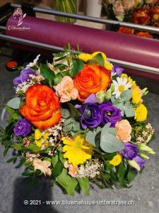 Blumenduft liegt in der Luft ...Mit diesem prachtvollen Blumenkorb zaubern Sie Frühlingsstimmung im Nu. Probieren Sie`s aus!