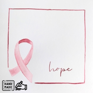 handgemachte Karte «Pink Ribbon» - Limited Edition inkl. 20 % SPENDE